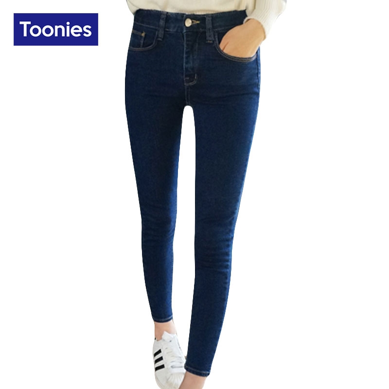 11.30$  Watch now - http://ali34r.shopchina.info/go.php?t=32758215625 - Warm Casual Jeans For Women Thick Pants Winter Jeans Female Stretch Straight Fashion High Waist Jeans Denim Pants  #aliexpressideas
