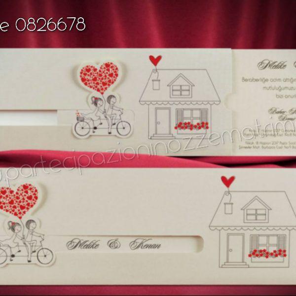 Partecipazione Simpatica Sposi Partecipazioni Nozze Biglietti D Invito Matrimonio