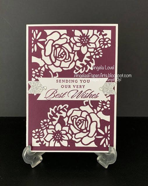 Last a lifetime double floral card