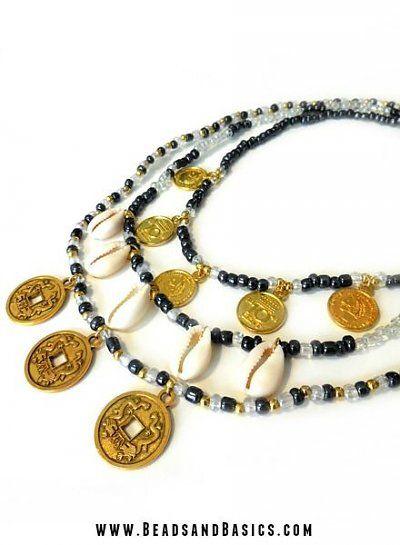 Boho Coin Necklace diy tutorial - handmade with love - gold - ibiza jewelry - Beads & Basics