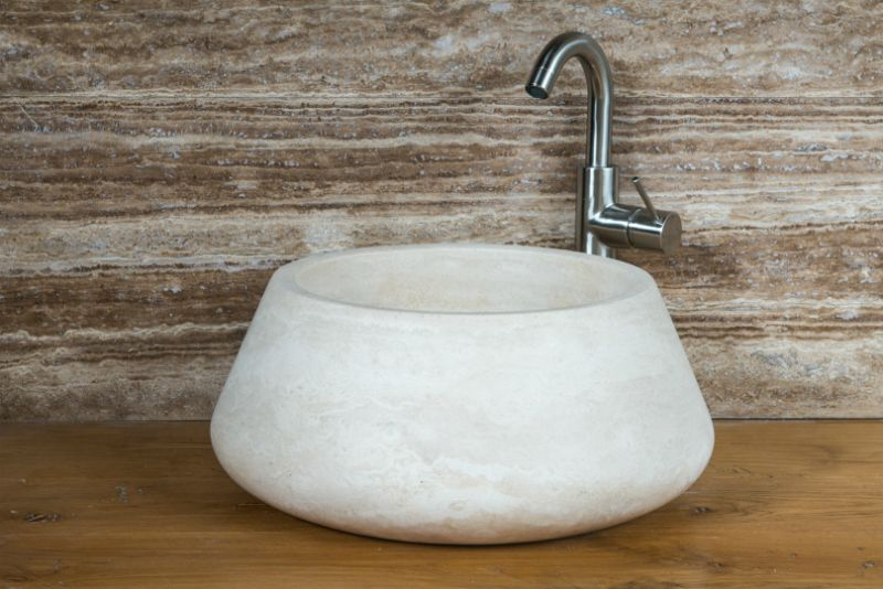 Lavabi in marmo e pietra artigianali | Lavabo appoggio tondo ...