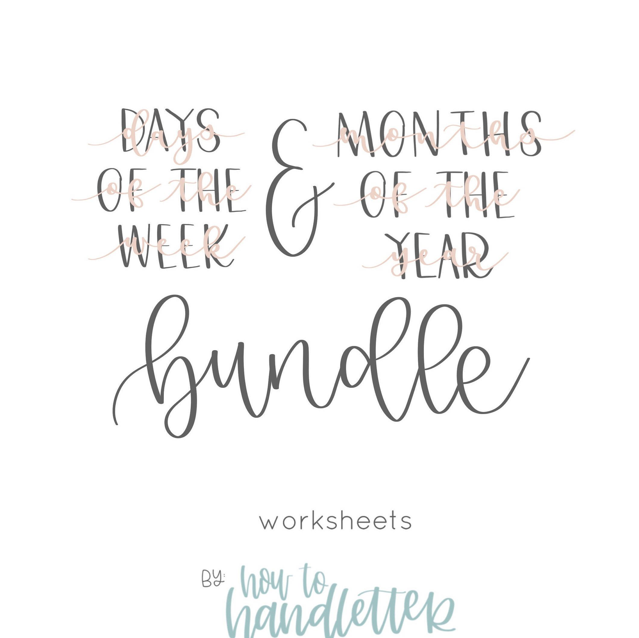 Handlettering Worksheets
