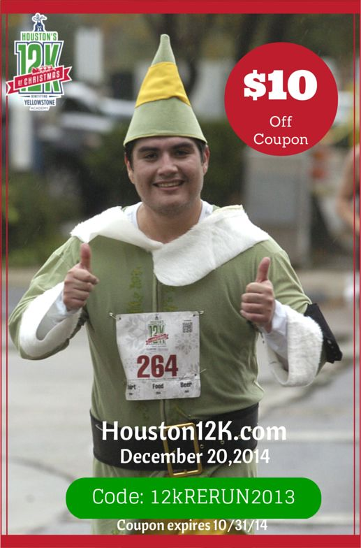 houstons 12k of christmas 10 off coupon code for registration - 12k Of Christmas