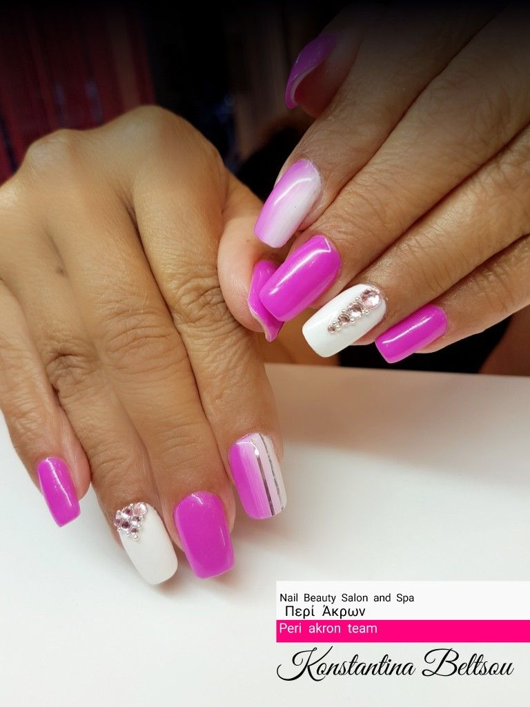 Long nails, square nails, purple nails, gel nails, nail art | Nails ...