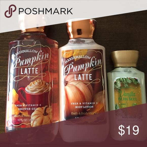 Final Sale🌟Marshmallow Pumpkin Latte Bath And Body Works