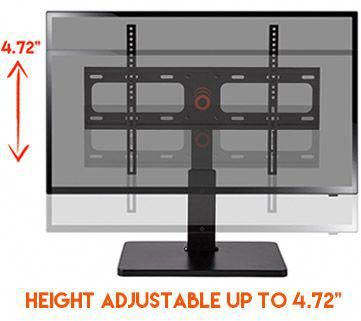 With Almost 5 Inches Or Height Adjustment You Can Raise Lower Your Tv To Fit Components Soundbars Underneath Swivelstand