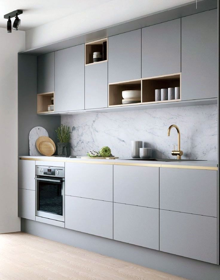 26 Gorgeous Scandinavian Kitchen With Grey Color Ideas