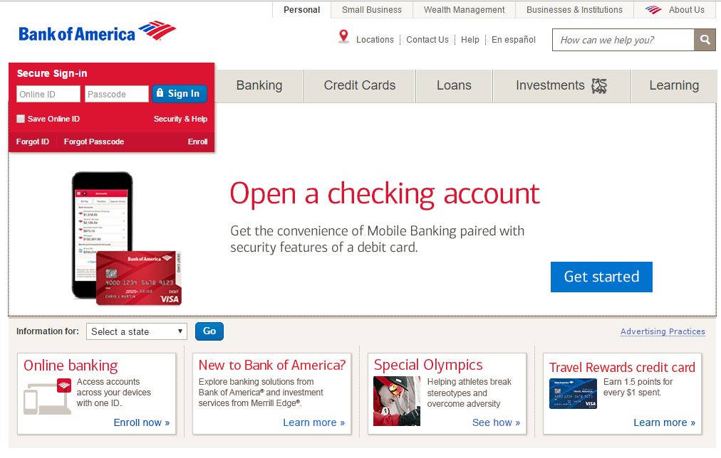 Bank of America Bank of America online sign in Bank of