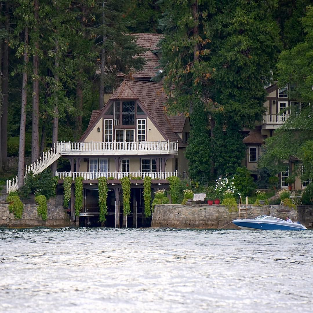 Tom Selleck's old boathouse Lake Arrowhead ID | Architecture ... on lake house dock signs, lake house dock ideas, cabin dock designs,