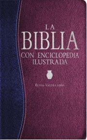 La Biblia Con Enciclopedia Ilustrada Piel Especial Azul Y Vino