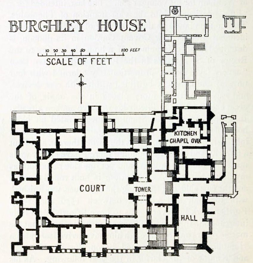 Plan Of Burghley House England Floor Plans House Floor Plans Luxury Floor Plans