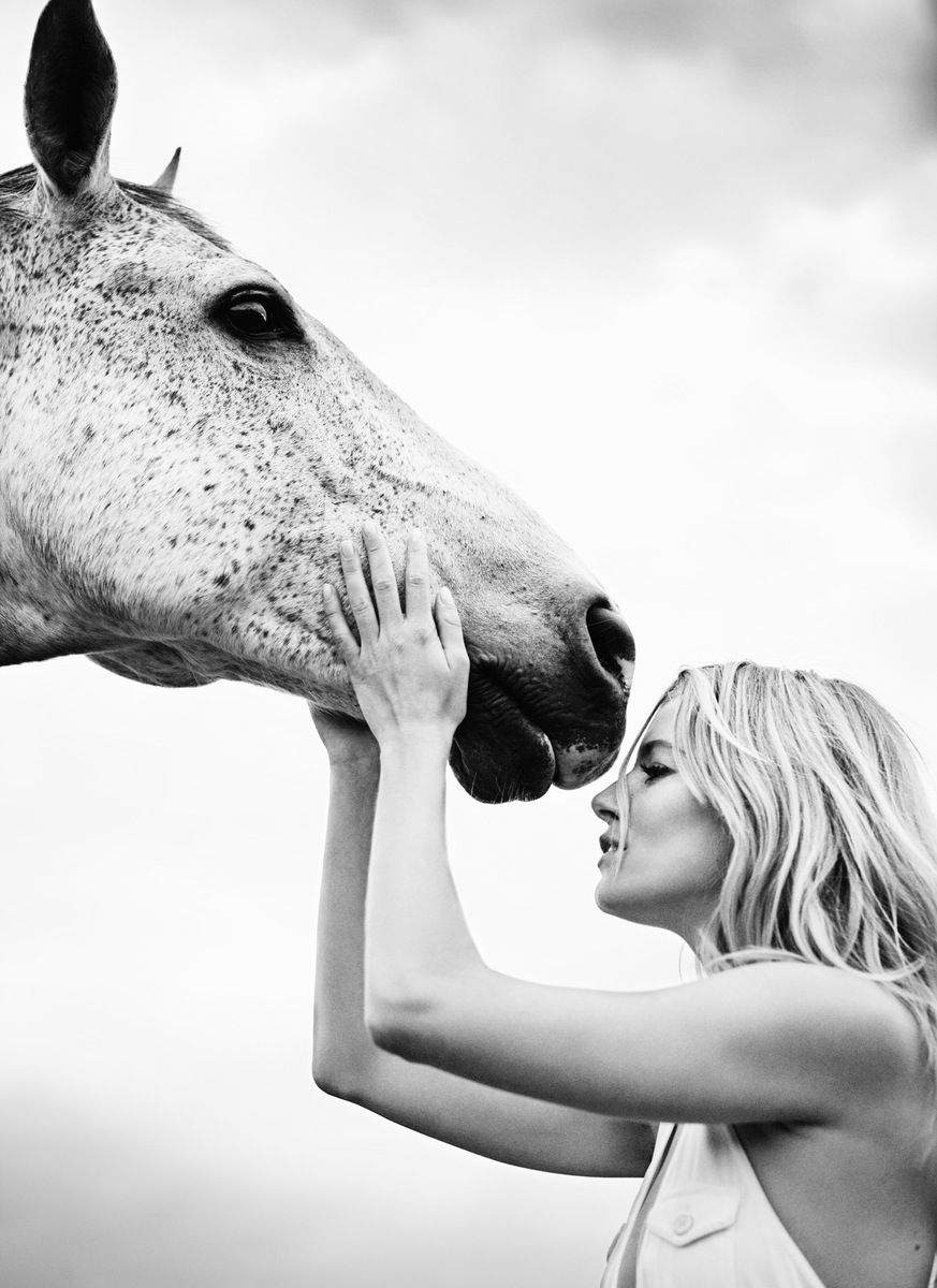 """""""Funny how hair looks like hay…""""  Horses say the strangest things.    unfinishedmuse:    Sienna Miller by Simon Emmett"""
