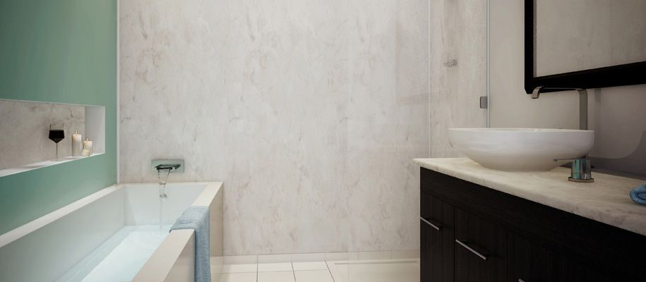 Mermaid Wall Panels | Shower panels, Laminate shower ...