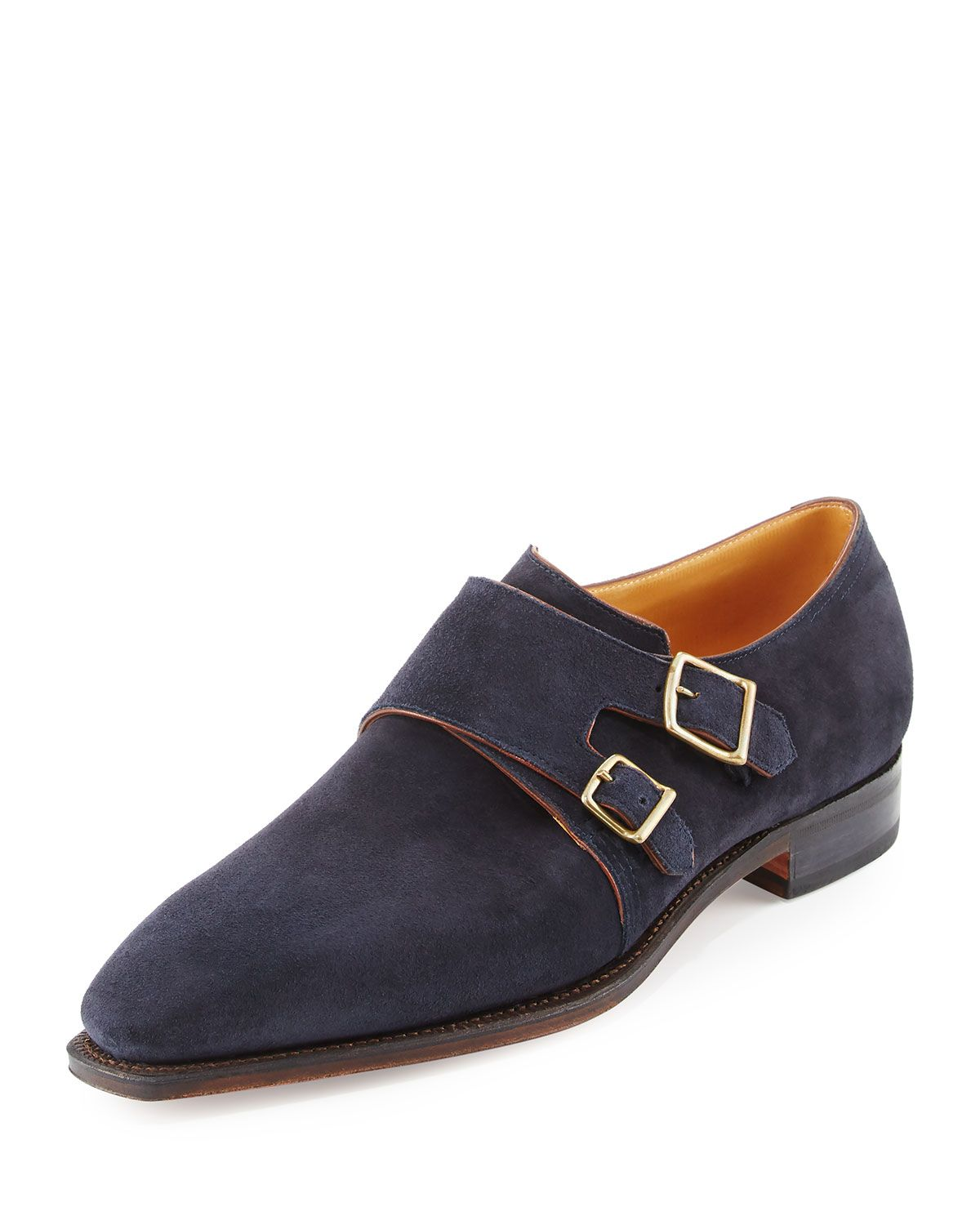 Corthay Arca Suede Double Monk Shoe Navy Corthay Shoes Shoes French Shoes Hot Shoes