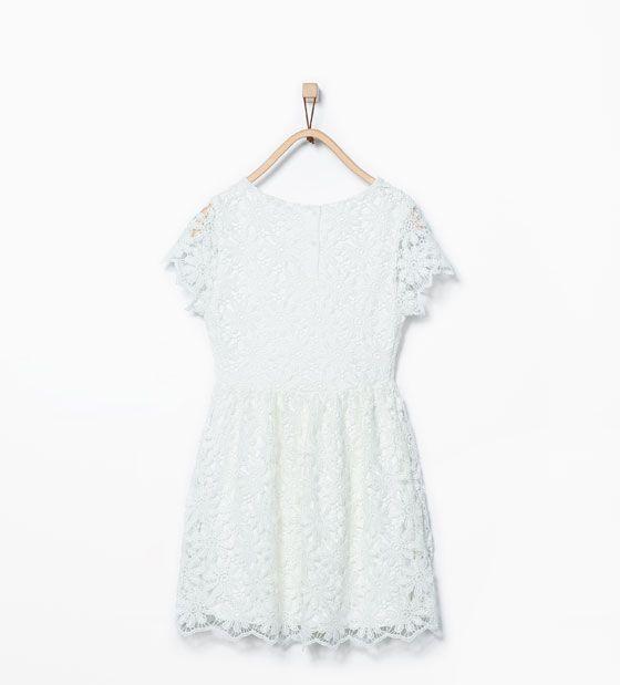 ZARA - KINDEREN - Guipure jurk met bloemen