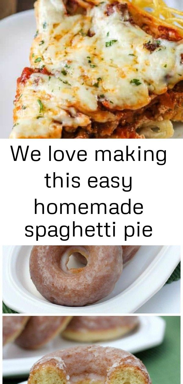 We love making this easy homemade spaghetti pie recipe for potlucks or weeknights its made in th 1 We love making this easy homemade spaghetti pie recipe for potlucks or...