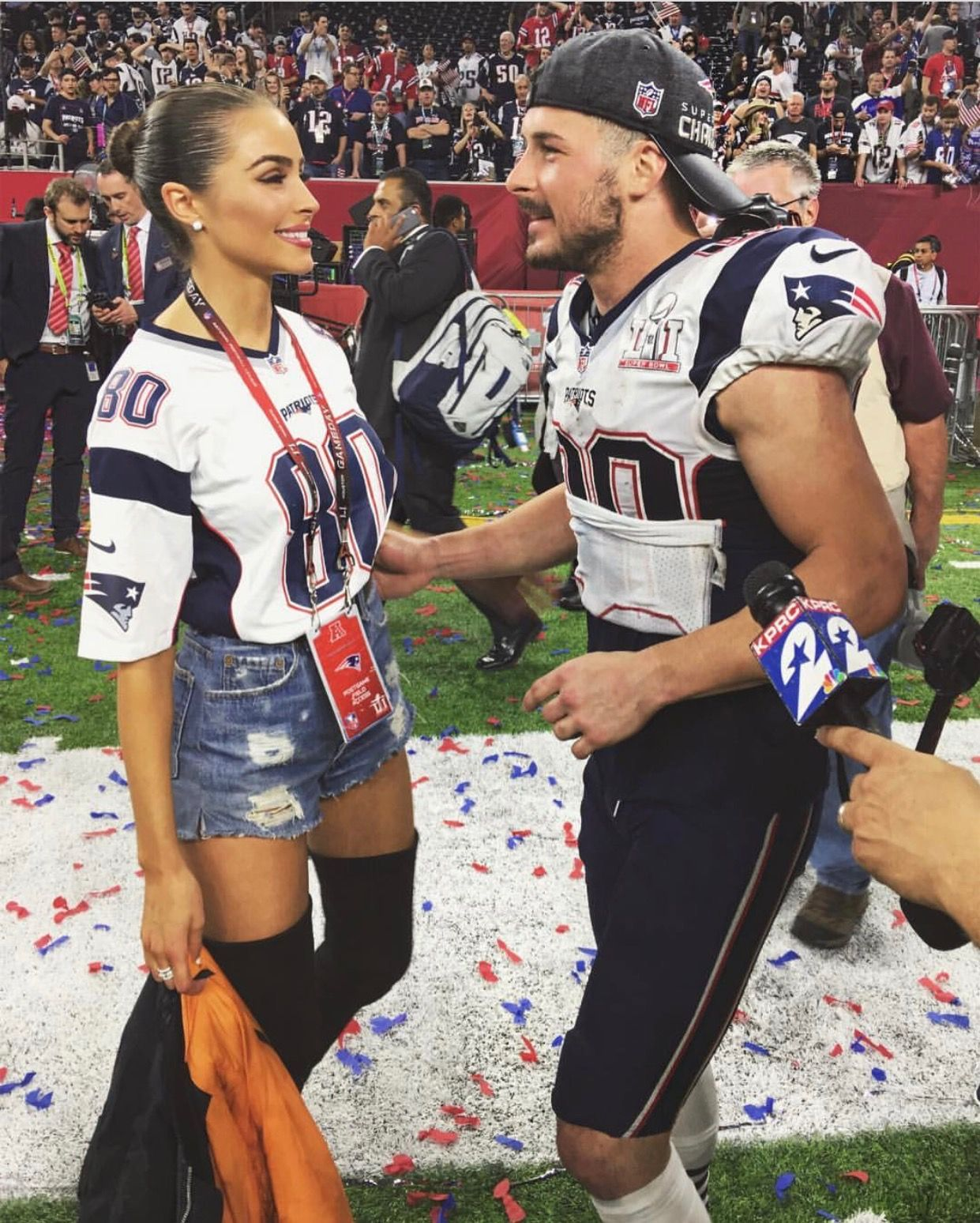 Olivia Culpo And Danny Amendola Goals Nfl Outfits Football Game Outfit Football Jersey Outfit