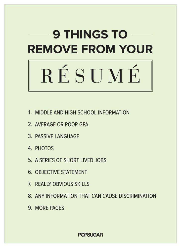 Resume Writing Jobs 9 Things To Remove From Your Résumé Right Now  Resume Writing