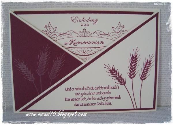 ♥ mausi's bastelwerkstatt ♥: kommunion einladungskarten