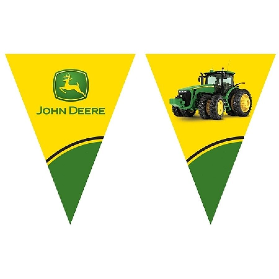 John Deere Tractor Flag Banner For A Baby Shower