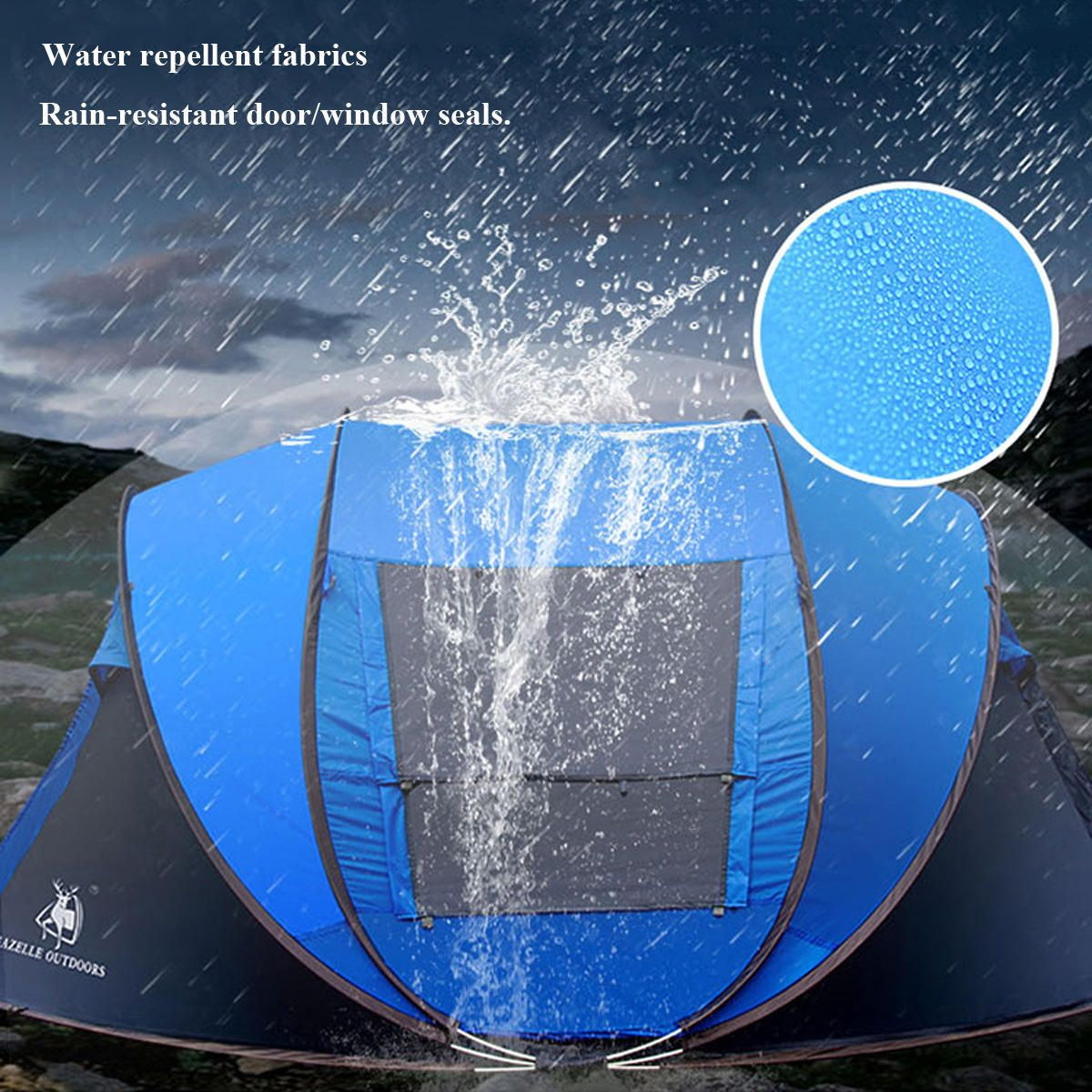 Automatic Instant Camping Tents 3-4 Person Waterproof Anti-UV Outdoor Tent  ////