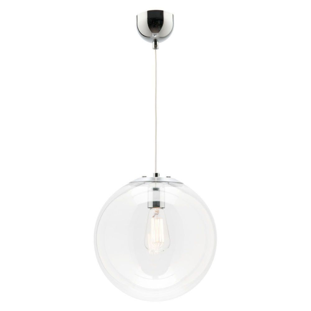 Liteworks Oxford Gl Pendant Clear 30cm Masters Home