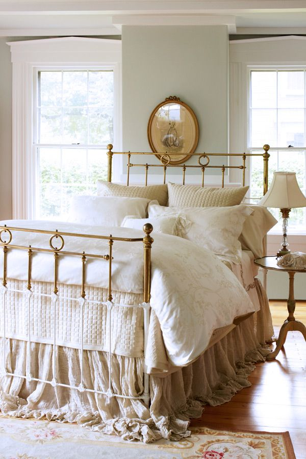 Au lit fine linens beautiful beds gilded chucktown for Beautiful neutral bedrooms
