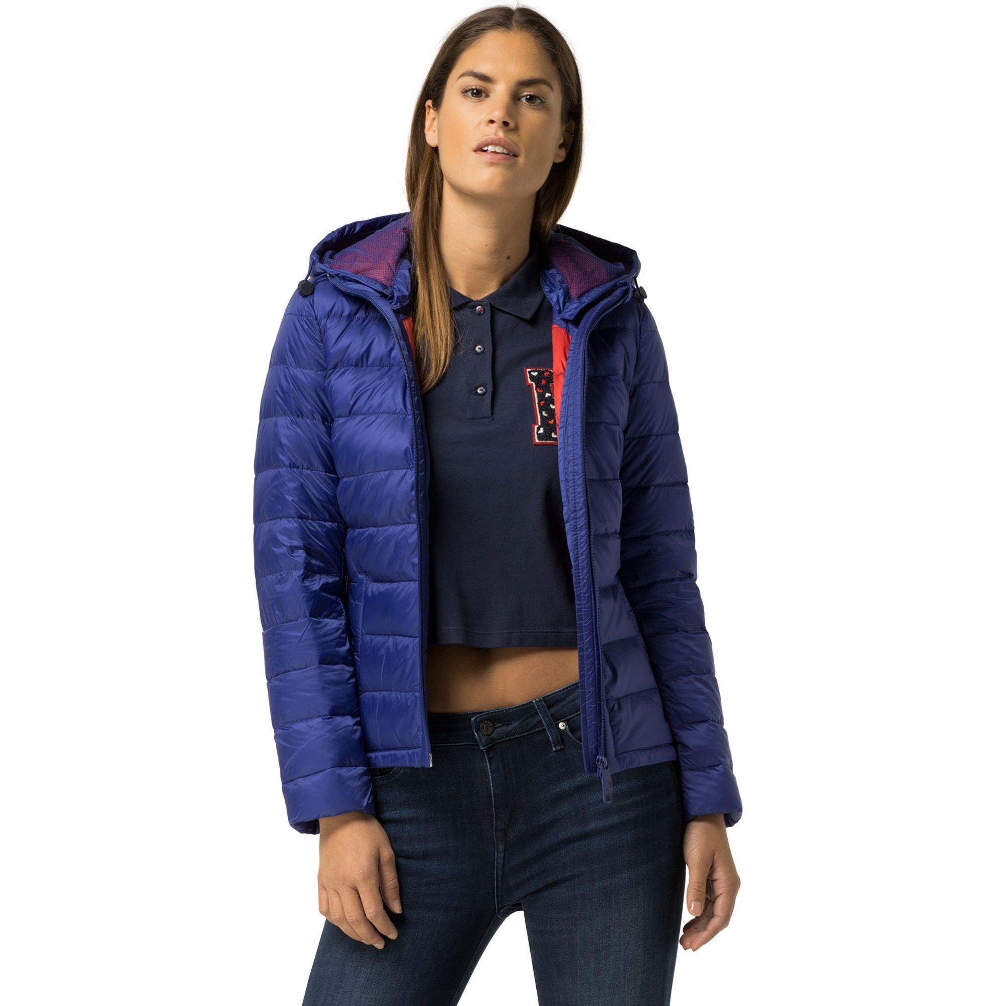 Tommy Hilfiger Final Sale Hooded Puffer Jacket Clematis Blue Tommyhilfiger Cloth Jackets Floral Bomber Jacket Clothes Design [ 2000 x 2000 Pixel ]