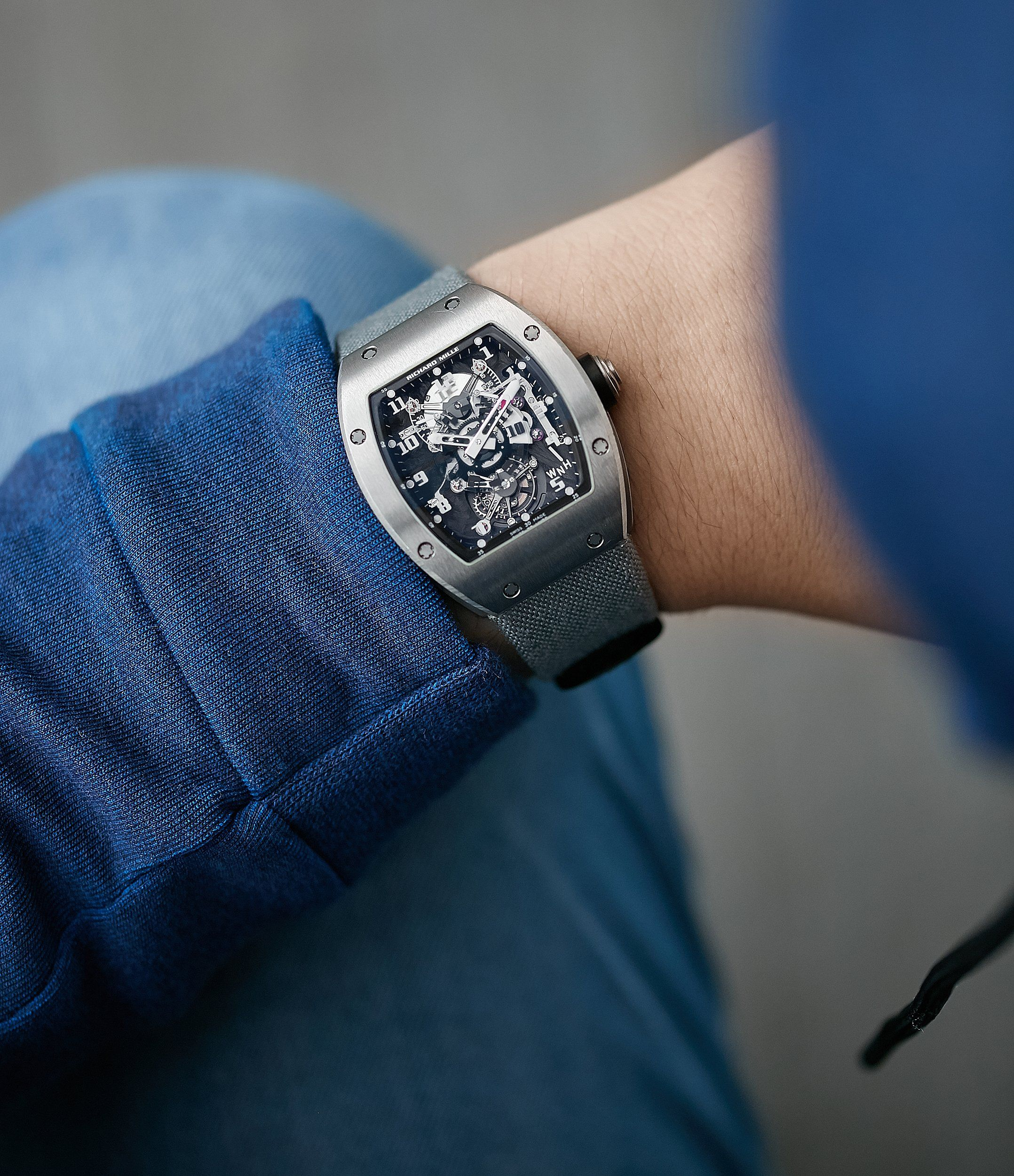 Rm003 V2 Dual Time Tourbillon Titanium Tourbillon Tech Watches Richard Mille
