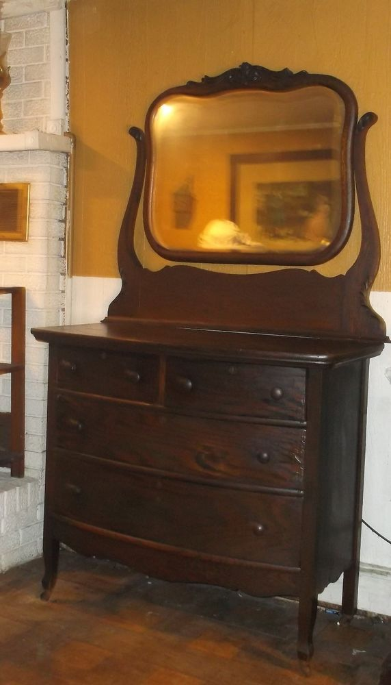 Antique Dresser With Mirror, Oak Dresser, Dresser Vanity, Antique Dressers, Mirror  Vanity - Antique Oak Dresser Mirror Vanity Oak Vanity Dresser Sears 1909