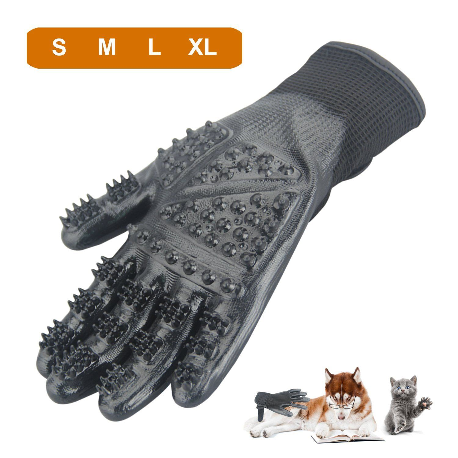 CICINY Pet Grooming Gloves for Cats and Dogs Bathing