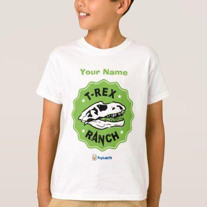 78a96867a ToyLabTV Dinosaur Kids T-Shirt - kids kid child gift idea diy personalize  design