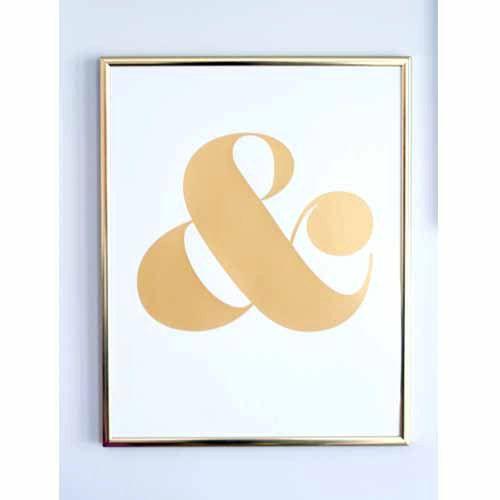 Kaufmännisches undZeichen Screen Print Gold von shopampersand ...