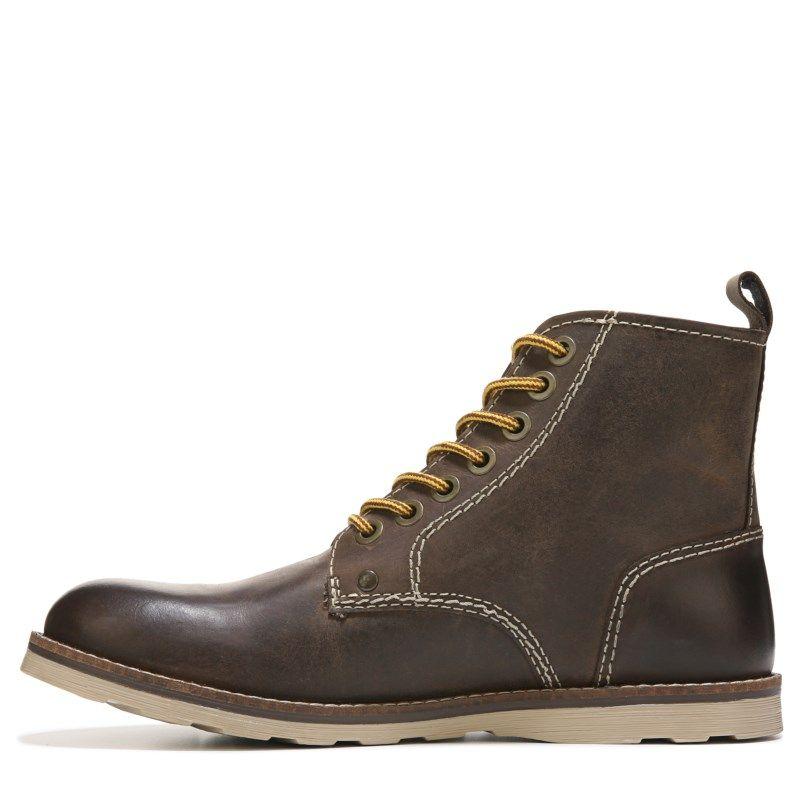 Crevo Men's Ranger Lace Up Boots (Dark Brown Leather)