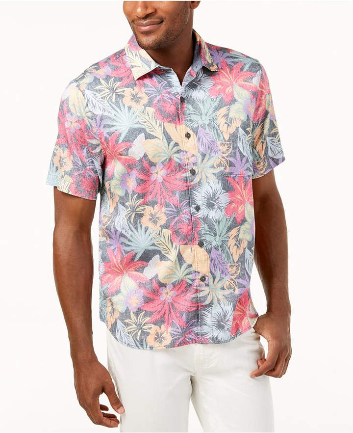 1427bb7e82c Tommy Bahama Men s Fuego Floral Knit Camp Shirt