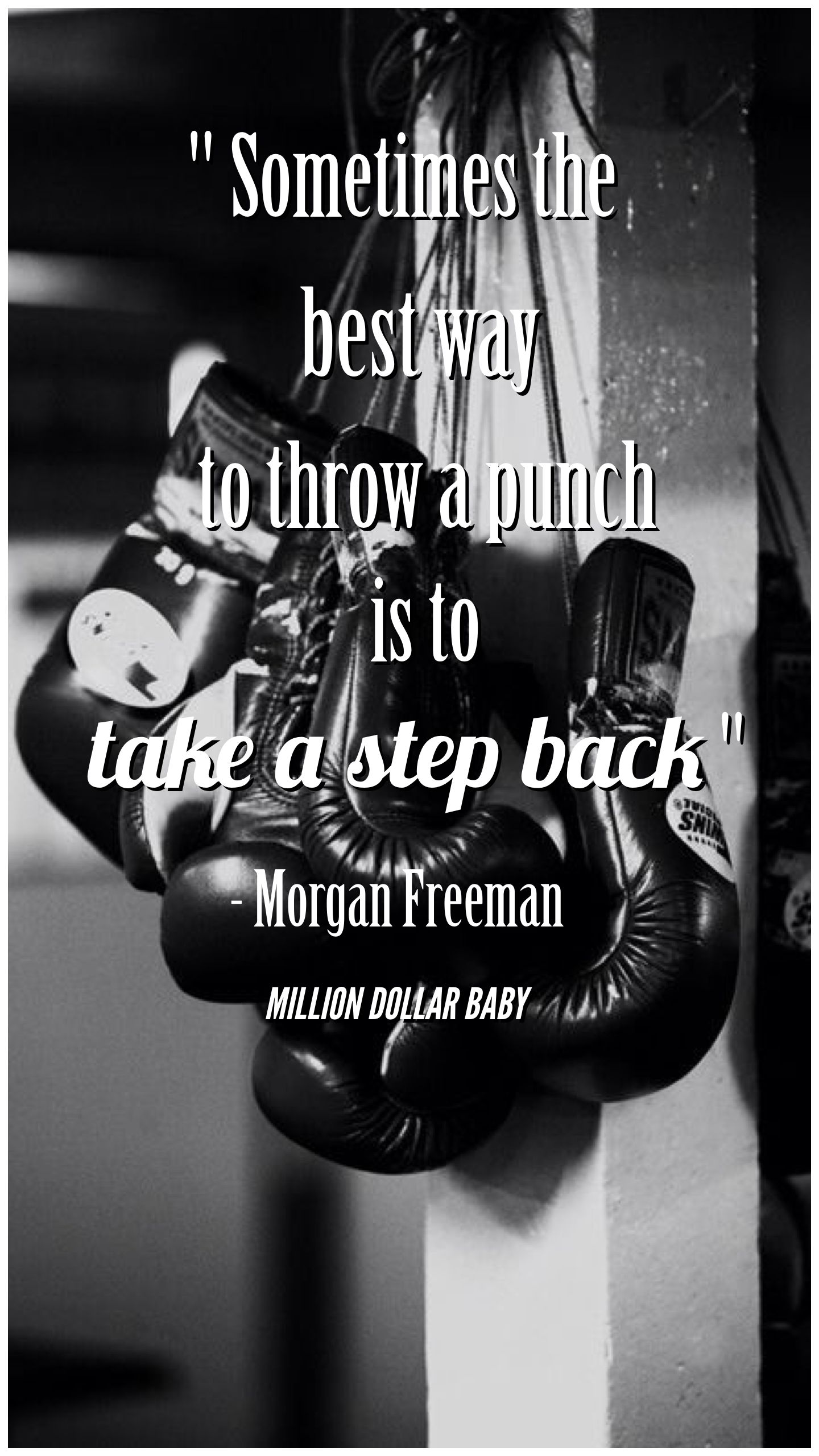 Sometimes The Best Way To Throw A Punch Is To Take A Step Back