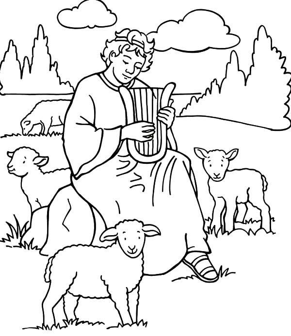 David The Shepherd Boy David The Shepherd Boy Play Harp