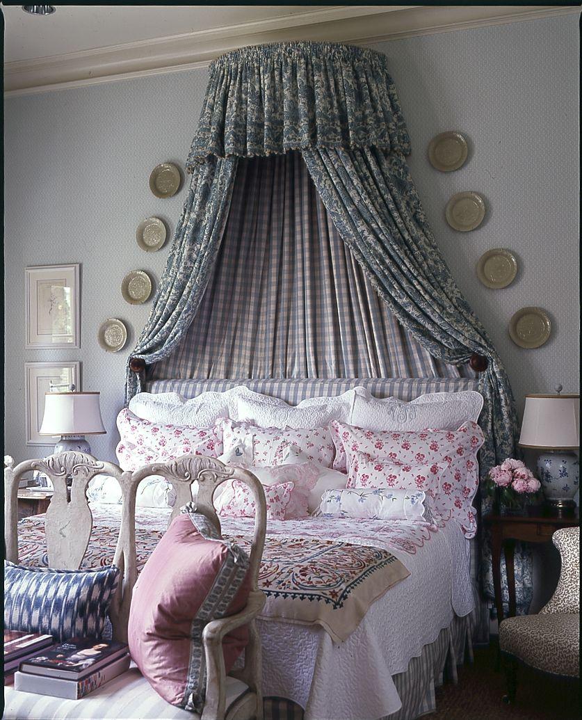 Pretty Bedroom by Cathy Kincaid Interiors.