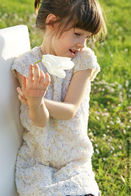 """Детское платье """"Розы"""". Handmade."""