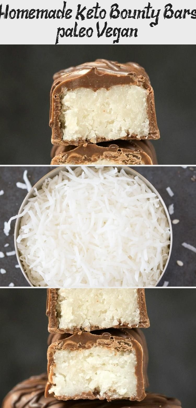 Keto Bounty Bars #health #fitness #nutrition #keto #diet #recipe #HealthDessertsHealthy #HealthDesse...