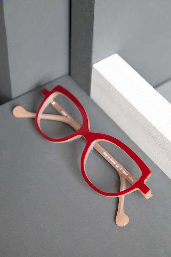 8027fec6811 Anne et Valentin - Alaska 1246 Red Eyeglasses