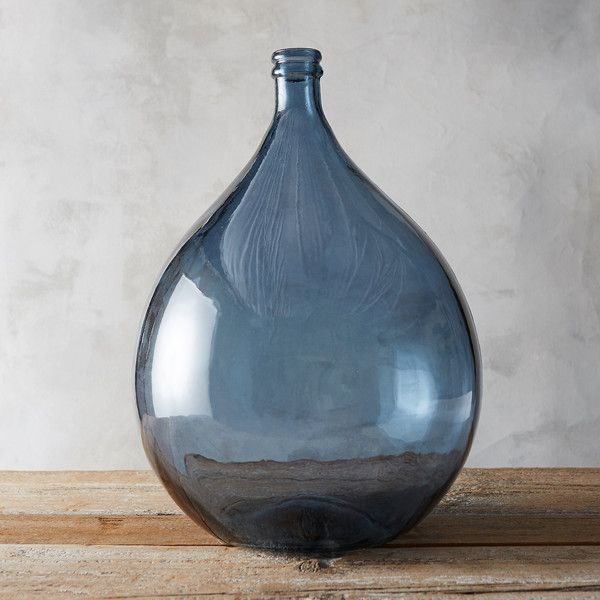 Recycled Glass Demijohn Vase Featuring Polyvore Home Home Decor Vases Blue Recycled Vase Blue Glass Vase Blue V Recycled Glass Vases Vase Recycled Glass