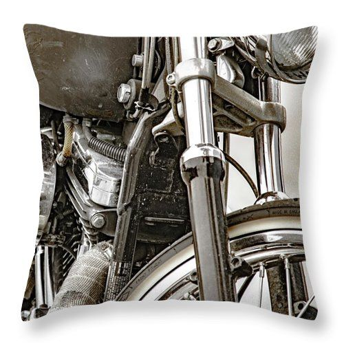 Harley Davidson motorcycle throw pillows for guys, men and man caves ...