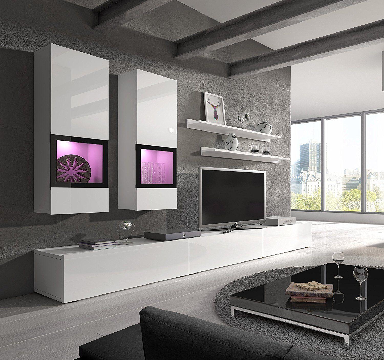 Modern Living Room Design Ideas With Baros Sonoma Oak Wall Unit  # Meuble Home Cinema Diy