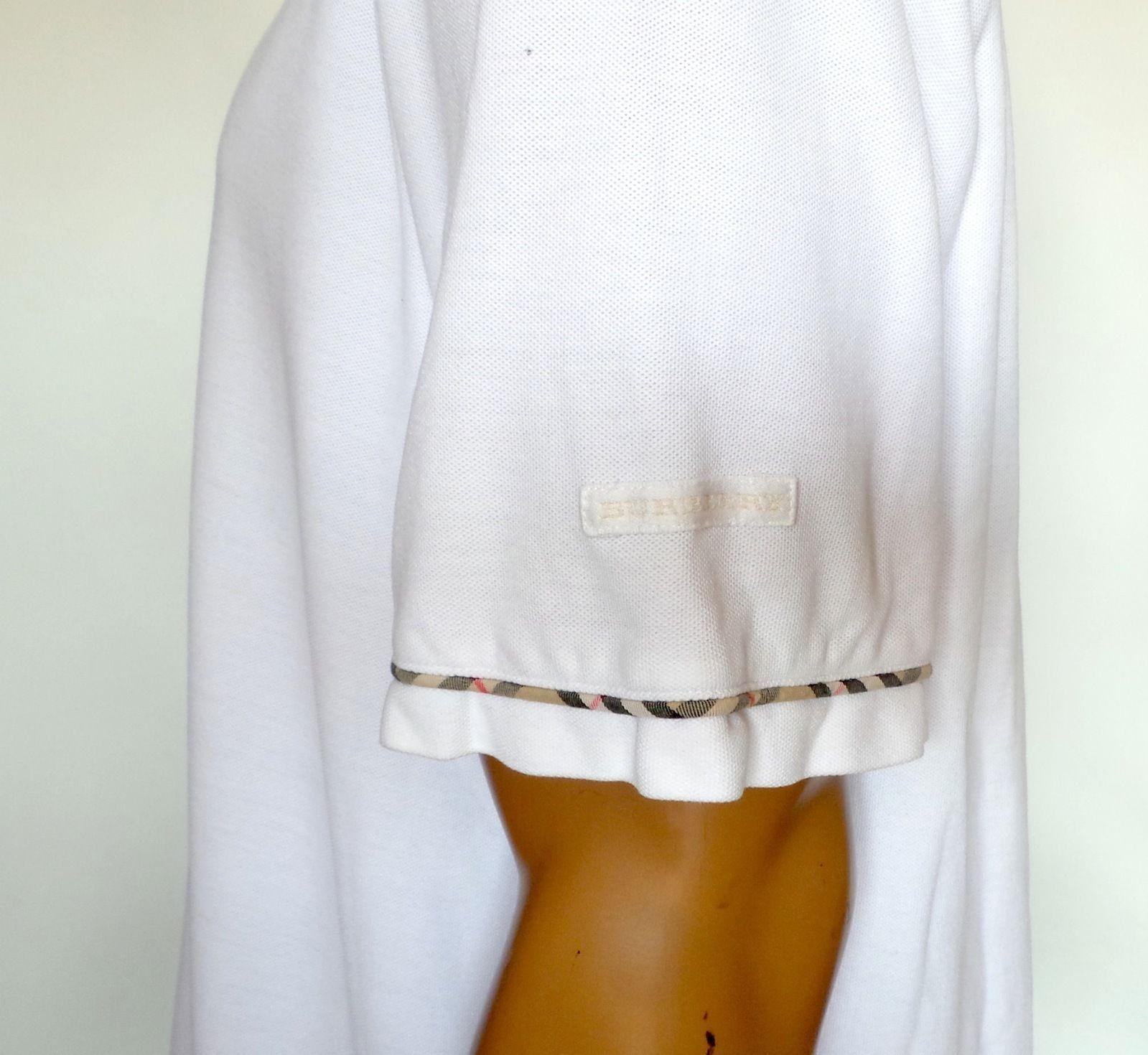 Burberry Golf Polo Men's Casual Short Sleeve Shirt Size XL Nova Check Plaid | eBay