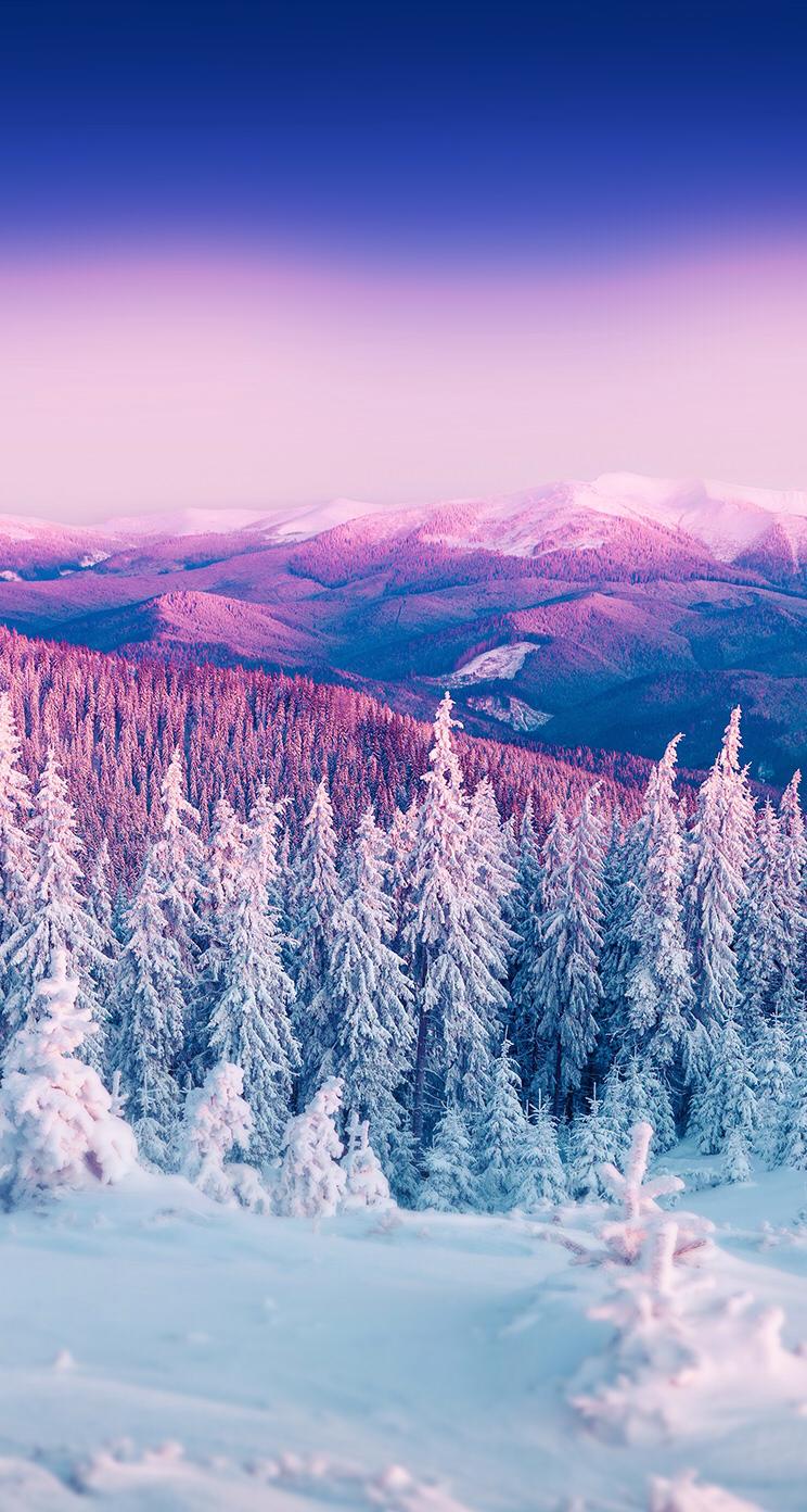 Gmail mountain theme background - Purple Winter Mountain Landscape Iphone 6 Wallpaper Jpg Pixels