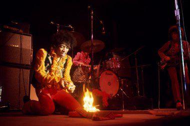 Image: Hendrix burns his guitar at the Monterey Pop Festival, 1967
