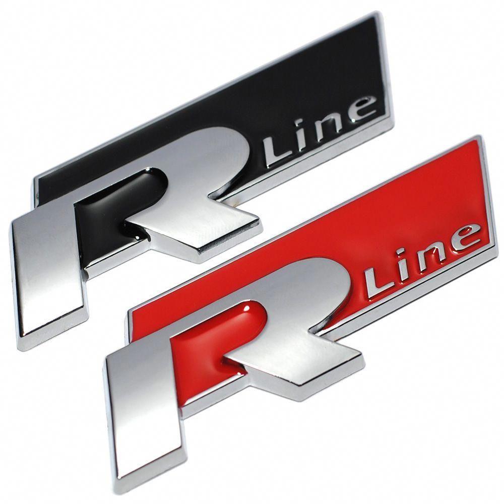Neue Metall 3d Auto Auto Rleitung Aufkleber Emblem R Linie