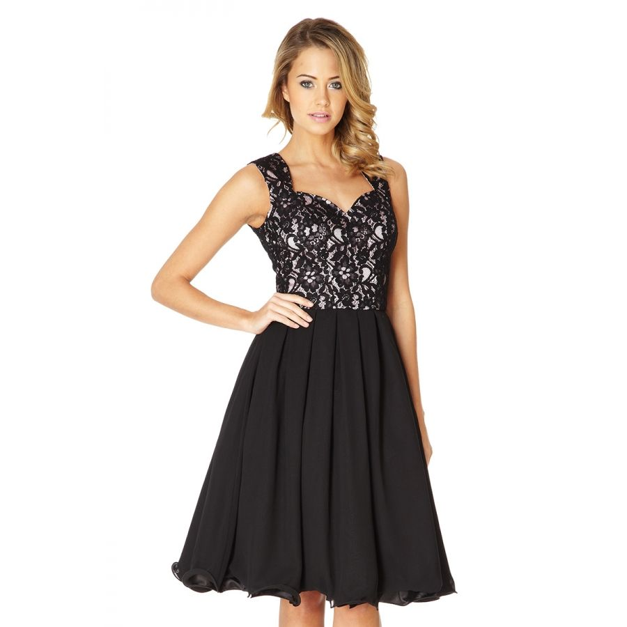 Black and pink lace prom dress quiz clothing dresses pinterest