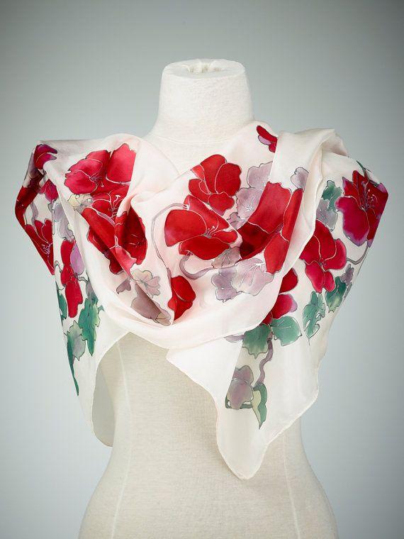 Dipinti a mano seta sciarpa scialle di seta utilizzando